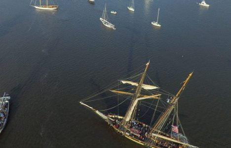 Aerial-view-of-ships-at-the-Downrigger-Sailing-Event-in-Chestertown-MD-1500x609